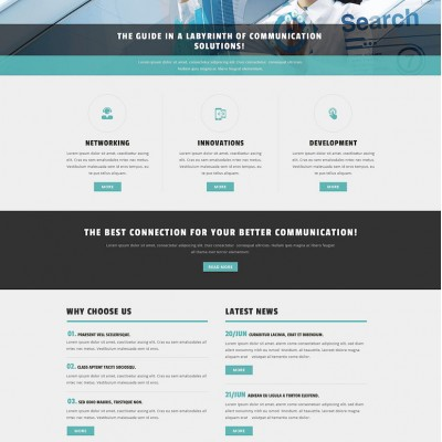 Communication Services Provider Joomla Template