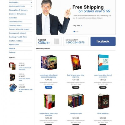 Books for any Taste OpenCart Template