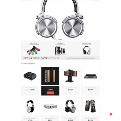 Audio Gear ZenCart Template