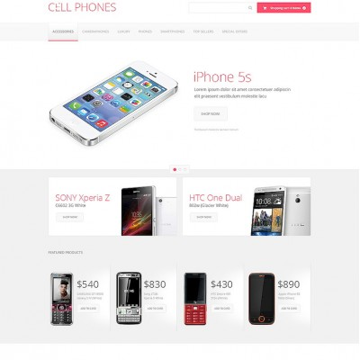 Cell Phones VirtueMart Template