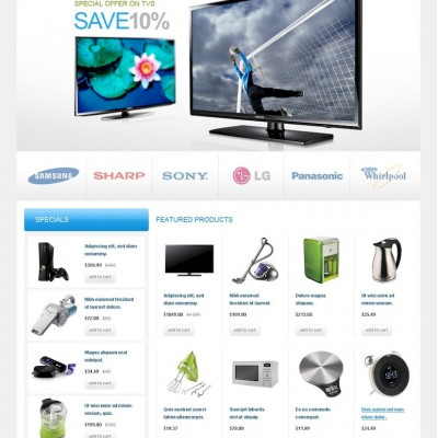 Appliances for Home OpenCart Template