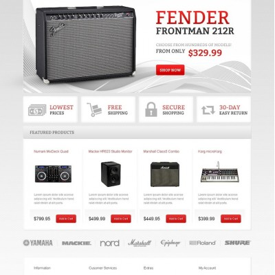 Audio Gear OpenCart Template